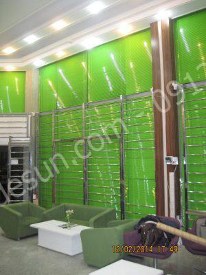 پرده کرکره ای سبز روشن